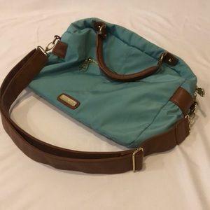 Steve Madden Aqua and Brown Handbag